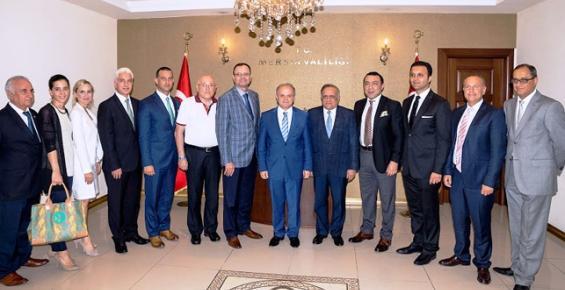 Yeni Mersin Valisi Çakacak'a Ziyaretler Devam Ediyor