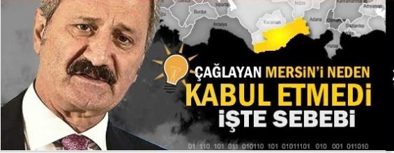 Zafer Çağlayan Mersin'de  Başkan Adaylığını Neden Kabul Etmedi.